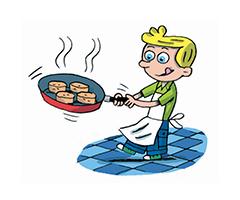 Petit cuisinier du pain